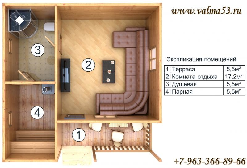 Баня из блоков 6 на 3