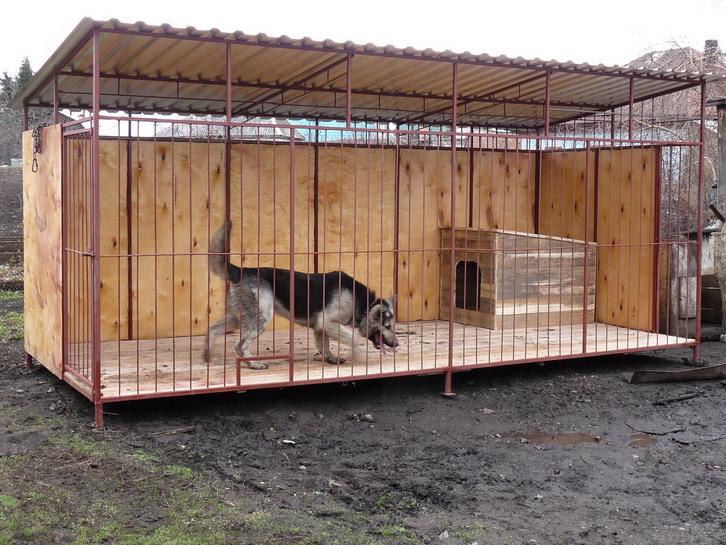 Как построить вольер для собаки своими руками из дерева