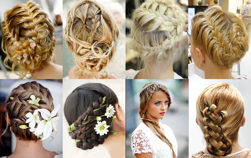 Свадебная прически на средние волосы своими руками
