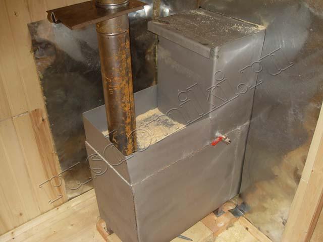 Печка для бани своими руками из металла фото