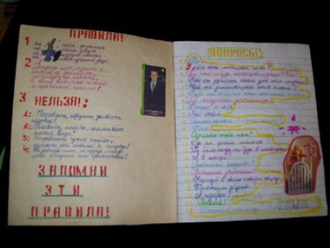 Как сделать личный дневник своими руками из тетради для девочек фото