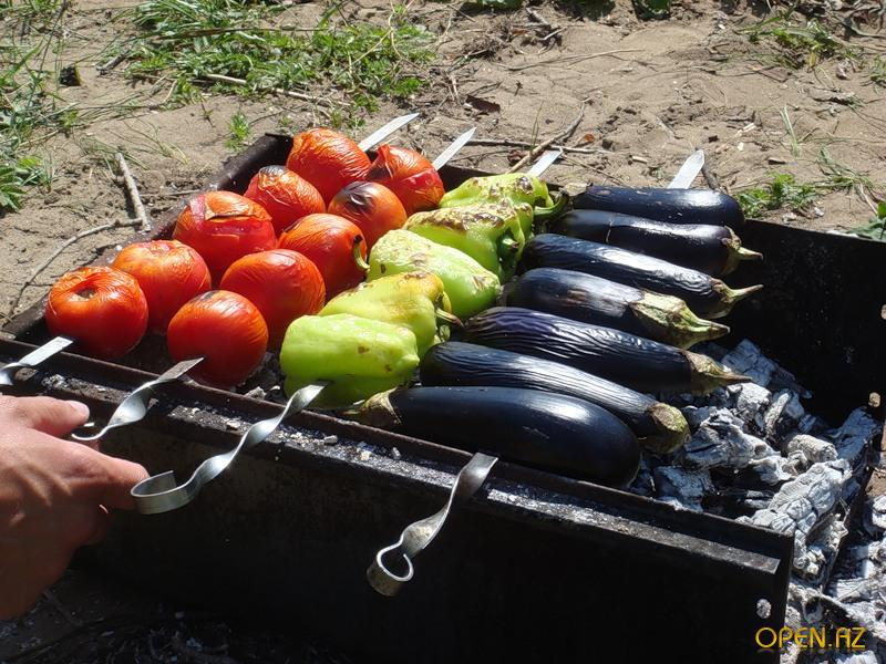 Как сделать овощи на гриле на костре 411
