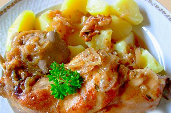 тушеный кролик с картошкой в духовке рецепт с фото