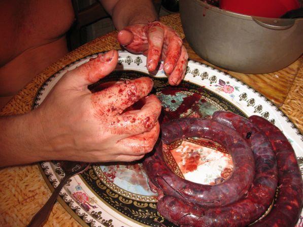 Как сделать кровянку в домашних условиях видео