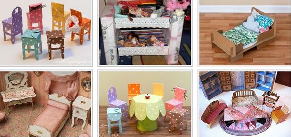 Как легко сделать мебель для кукол своими руками