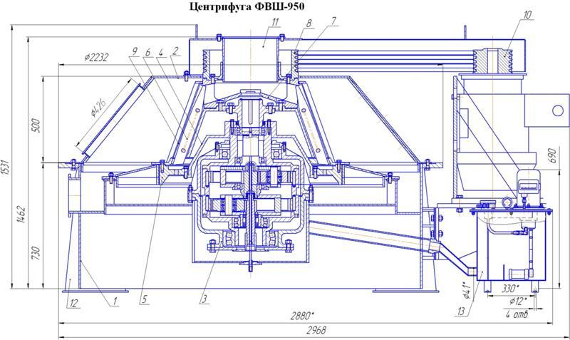 Перосъемная центрифуга чертежи