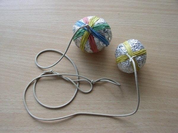 Мячик на резинке как сделать