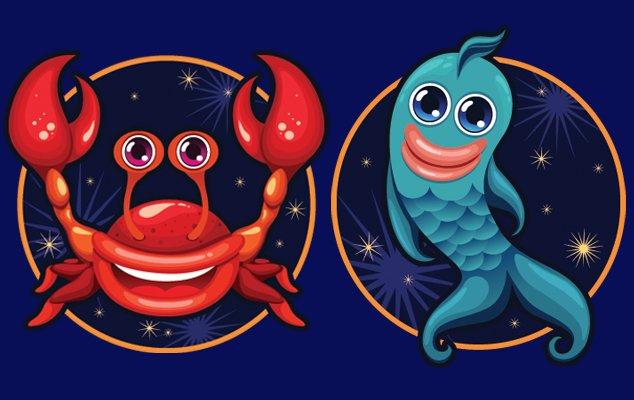 Любовный гороскоп женщи  рак и мужчи  рыба