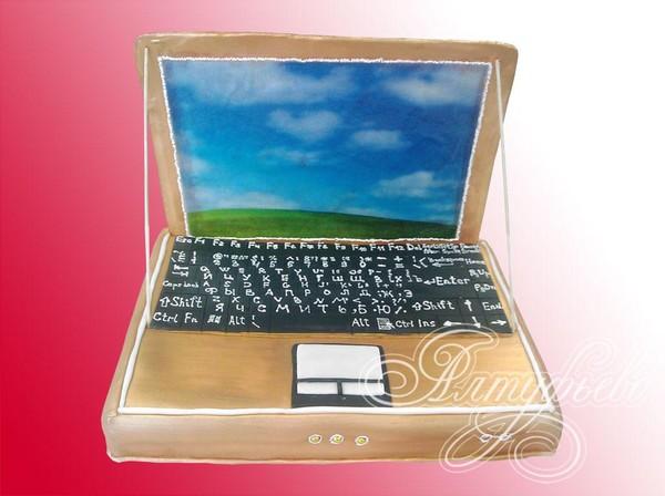 Воздушные, открытка в форме ноутбука
