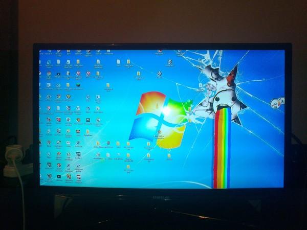 Картинка с компьютера на телевизор урезана, видами