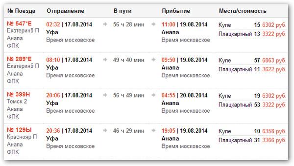 цена билета на поезд архангельск анапа 2016 год основе полиэстера больше
