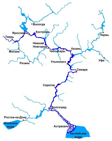 Схема речной системы москвы