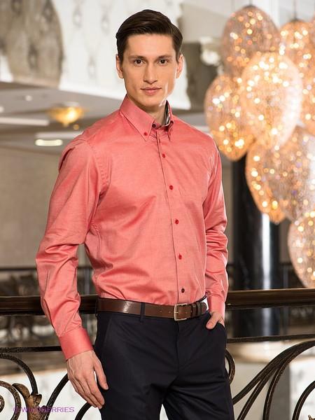 Рубашки мужские цвет коралловый