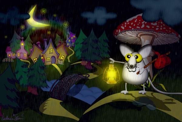 Днем рождения, картинка с спокойной ночи с гномами с эффектами