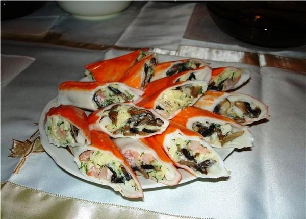 Рыба крабовыми палочками рецепт фото