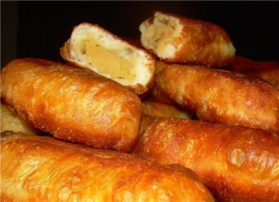 Жареные пирожки с горохом рецепт с фото
