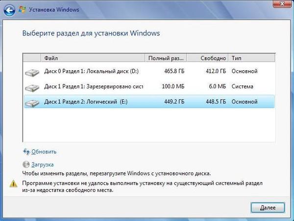windows не установить: