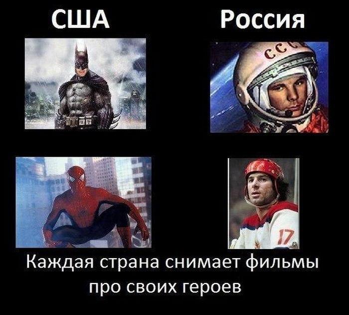 Америки и россии демотиваторы
