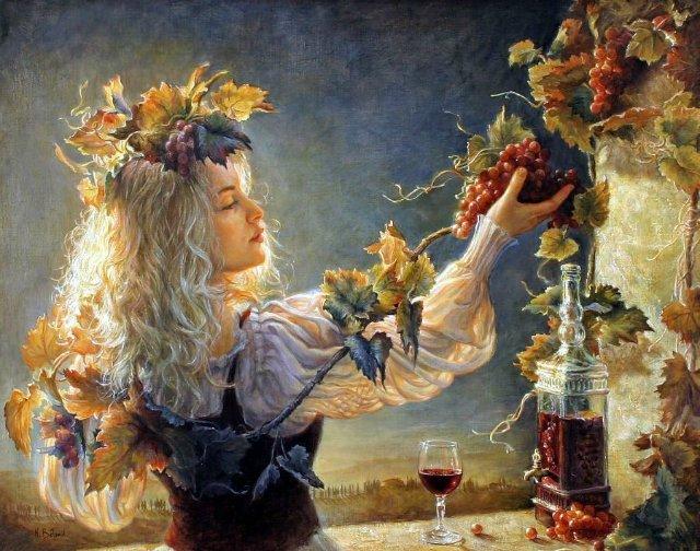 тот, кого девушка и виноград картина рецептов