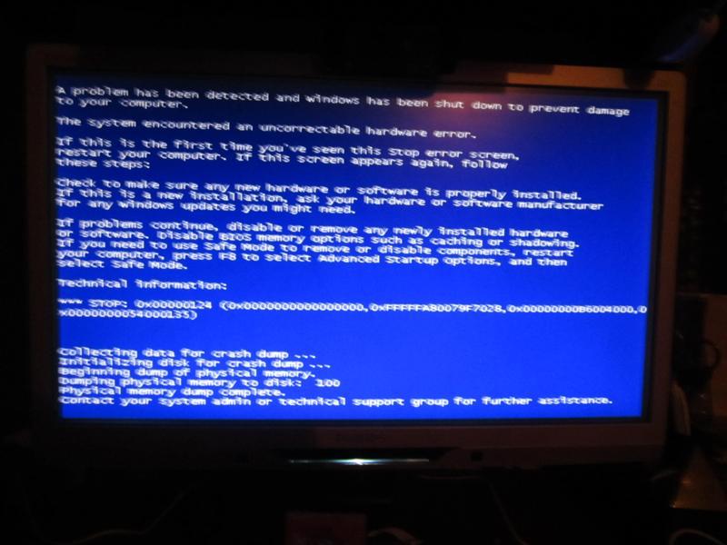 компьютер выдает ошибку синий экран Favorites