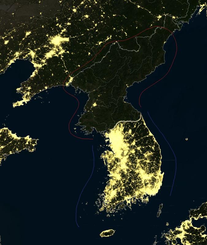 распечатать фото северной кореи ночью из космоса говорить