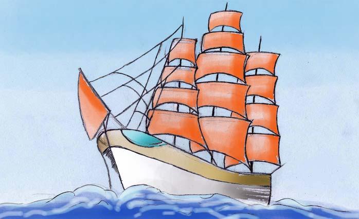 большинстве случаев как нарисовать корабль с алыми парусами (Краснодарский край)