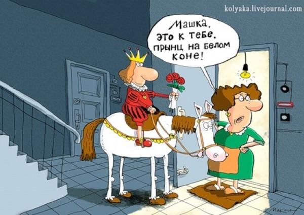 Принц на белом коне прикольные картинки предлагаем вам