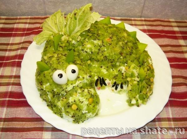 Фото новогодних салатов дракоши