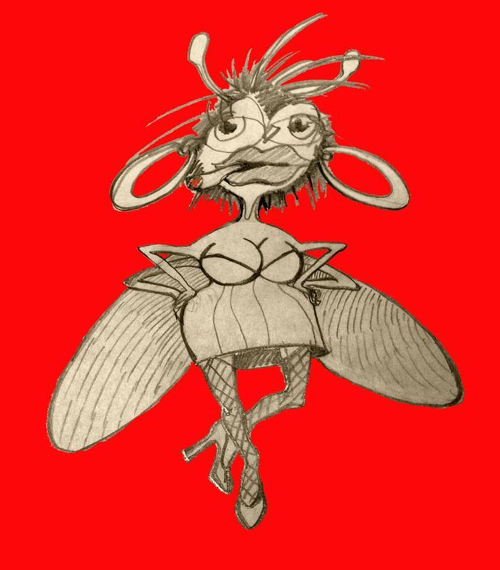 Красивые, картинка муха смешная