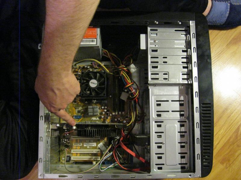 Фото подключения плат системного блока
