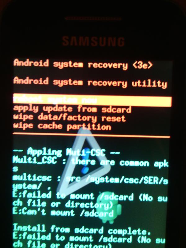 андроид с восклицательным знаком lg p765