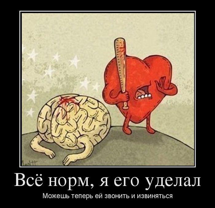 Своими руками, мозг и сердце смешные картинки