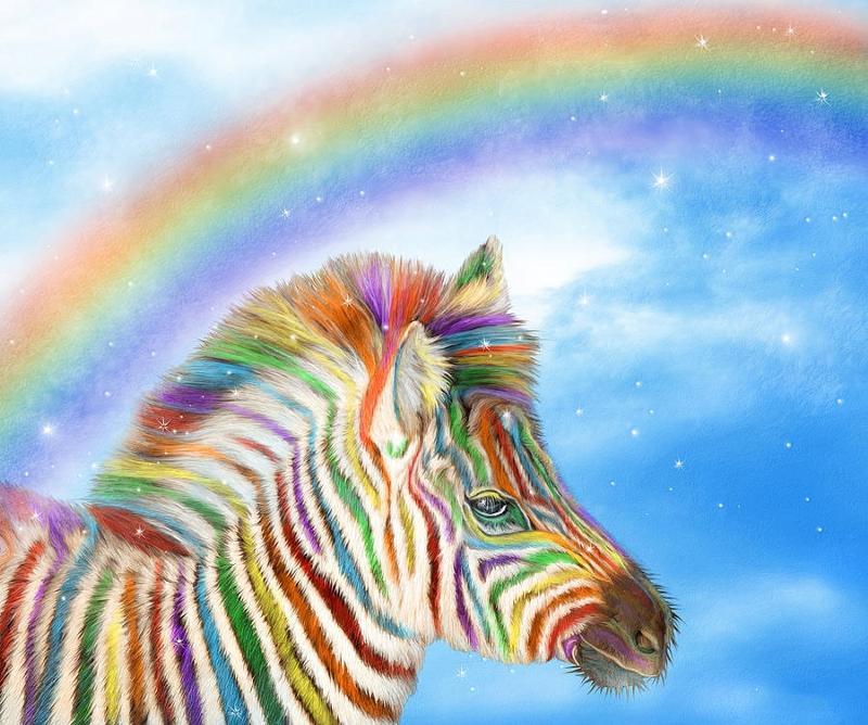 Поздравление как радуга