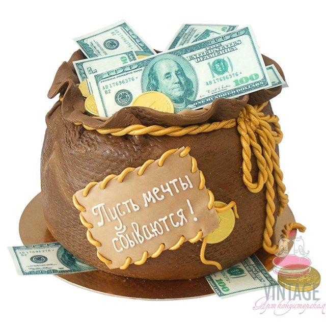 Торт мешок денег фото