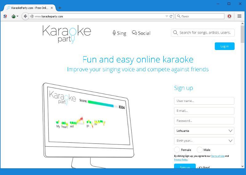 Скачать программу karaokeparty на компьютер