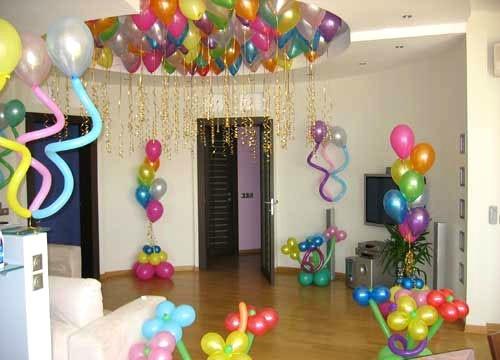 Украшение дома шарами на день рождения