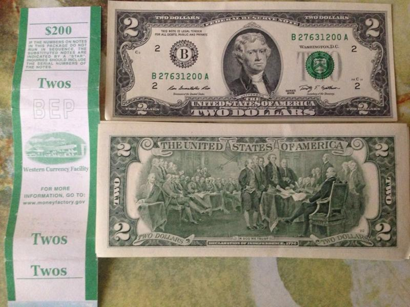 Двухдолларовая купюра 1976 стоимость монета 1 рубль 1743 елизавета