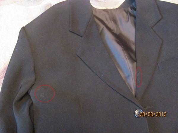 Как отчистить пятно на пиджаке фото