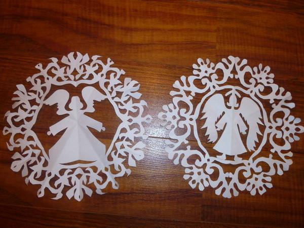 красивые бумажные снежинки :D