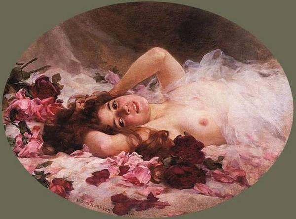 На картине роскошная голая женщина этим