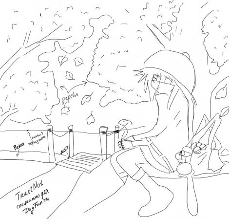 Картинки про осень простым карандашом