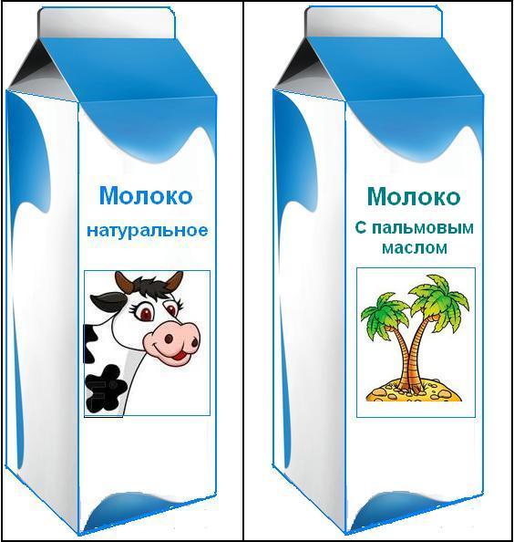 Картинка для детей молоко в коробке