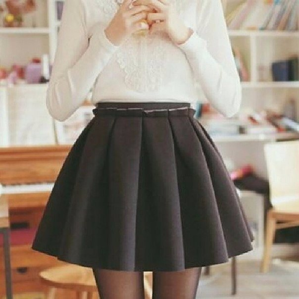 Как выкроить юбку в складку солнце