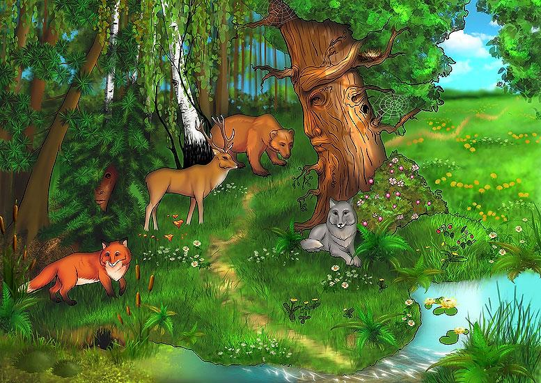 Лес картинки детям
