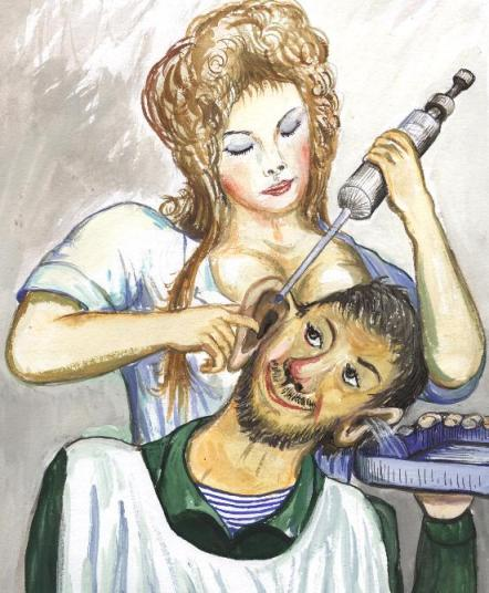 Открытка про ухо, своими руками