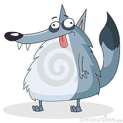 Смешные, рисунок веселого волка