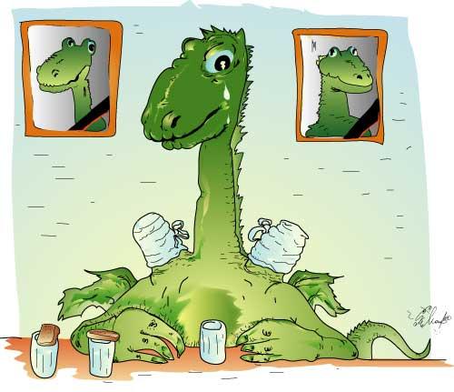 Картинки смешные змей горыныч, сделать открытку онлайн