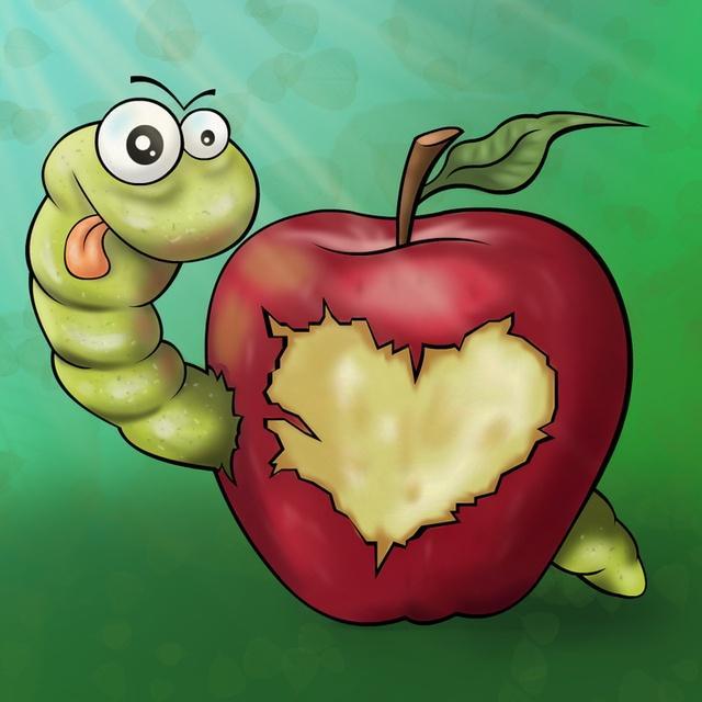 Смешные рисунки с яблоками, надписью
