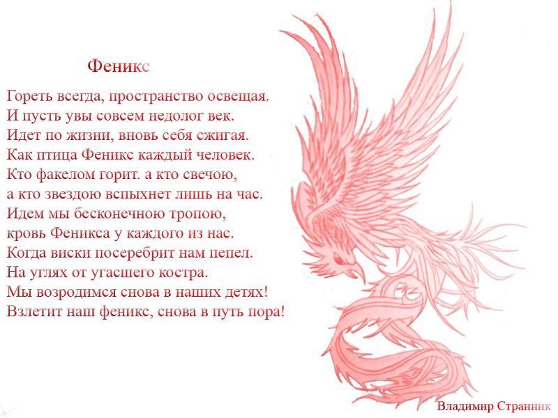 птица счастья стихи классика стиле чикаго
