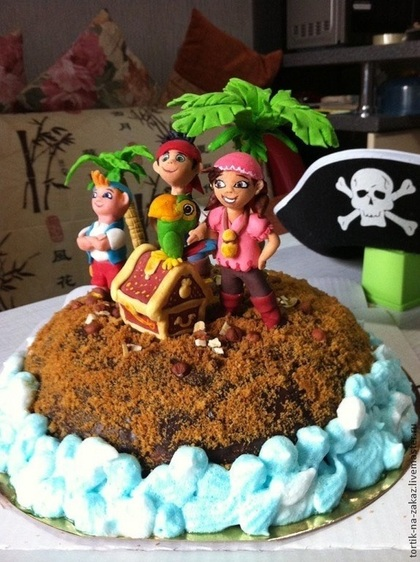 появилось много фото тортиков джек и пираты использовать